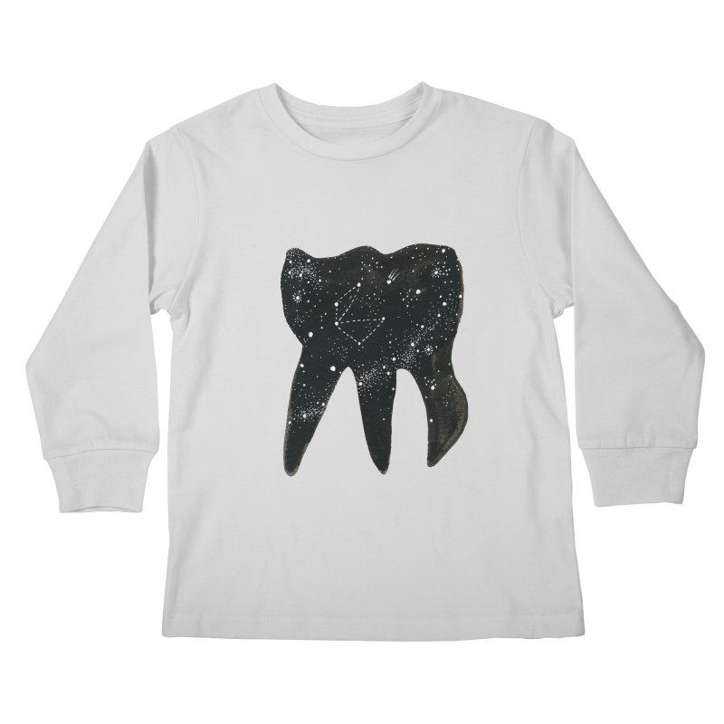 Cosmic Tooth Kids Longsleeve T-Shirt by Renee Leigh Stephenson Artist Shop