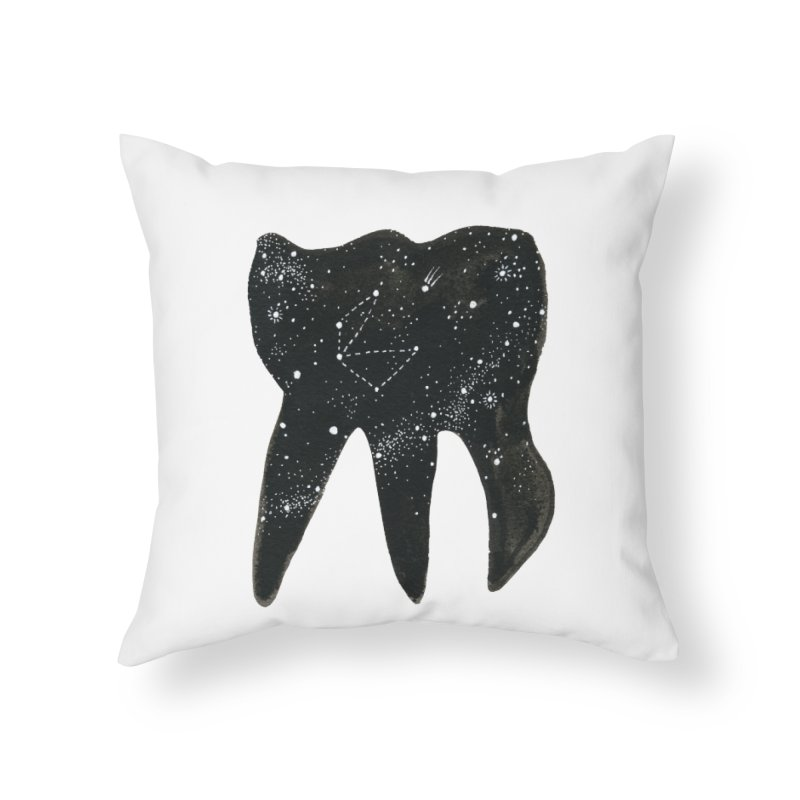 Cosmic Tooth Home Throw Pillow by Renee Leigh Stephenson Artist Shop