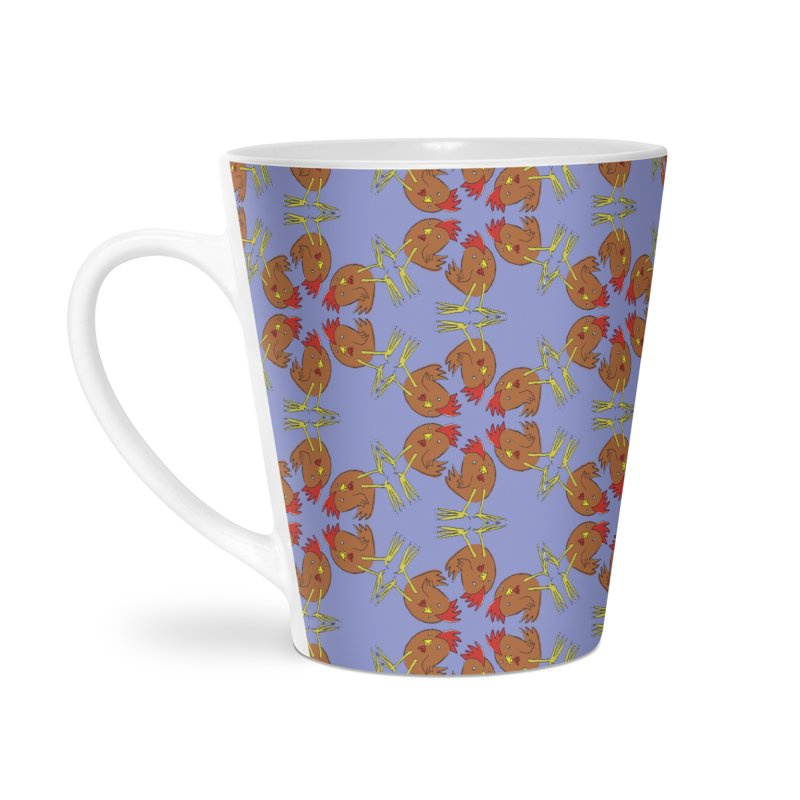 Chicken Pattern Accessories Latte Mug by Renee Leigh Stephenson Artist Shop