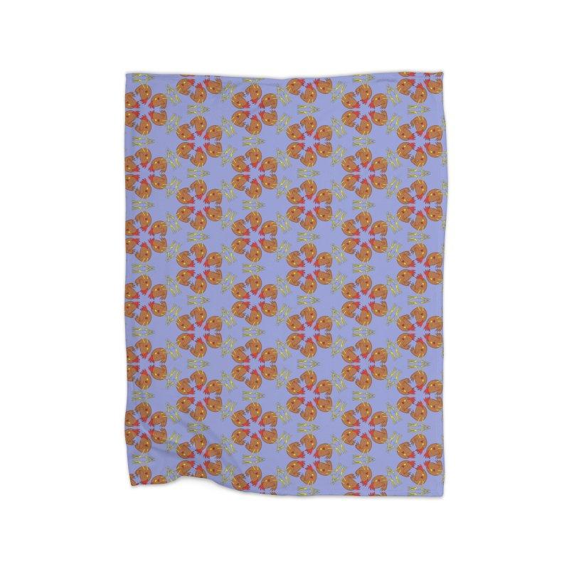 Chicken Pattern Home Blanket by Renee Leigh Stephenson Artist Shop