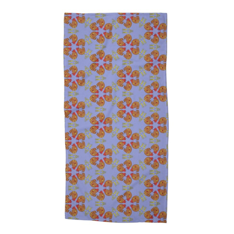 Chicken Pattern Accessories Beach Towel by Renee Leigh Stephenson Artist Shop