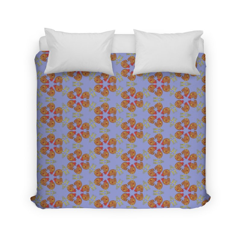 Chicken Pattern Home Duvet by Renee Leigh Stephenson Artist Shop