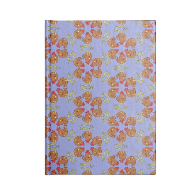 Chicken Pattern Accessories Notebook by Renee Leigh Stephenson Artist Shop