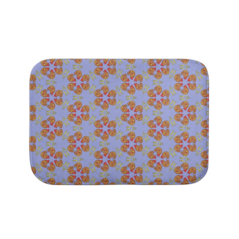 Chicken Pattern Home Bath Mat by Renee Leigh Stephenson Artist Shop