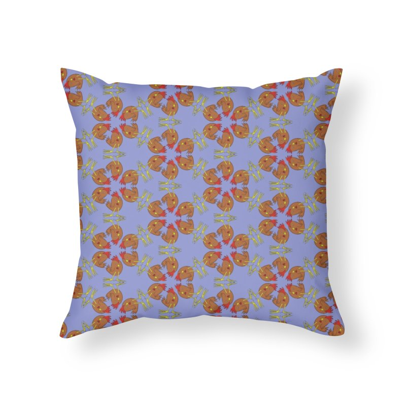 Chicken Pattern Home Throw Pillow by Renee Leigh Stephenson Artist Shop