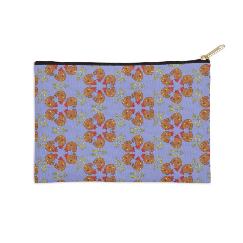 Chicken Pattern Accessories Zip Pouch by Renee Leigh Stephenson Artist Shop