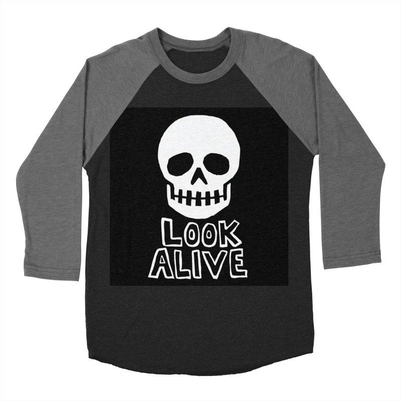 Look Alive Men's Baseball Triblend Longsleeve T-Shirt by Renee Leigh Stephenson Artist Shop