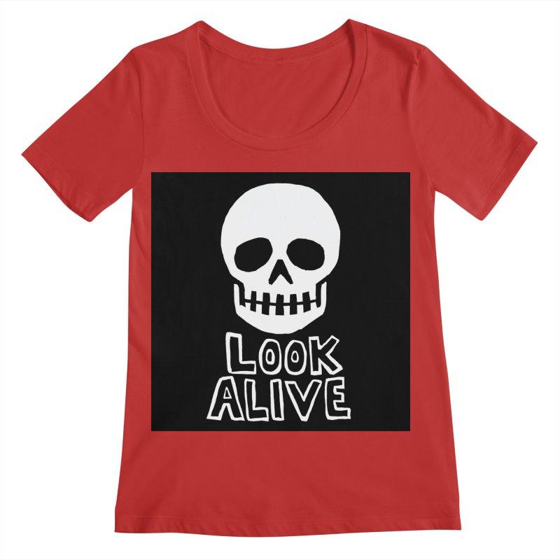 Look Alive Women's Regular Scoop Neck by Renee Leigh Stephenson Artist Shop