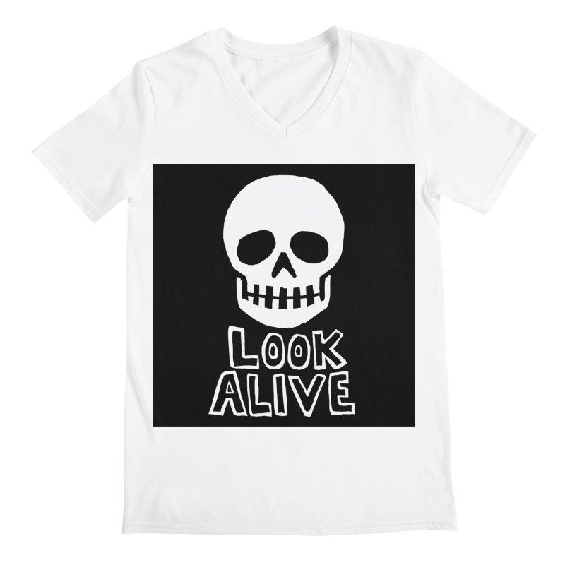 Look Alive Men's Regular V-Neck by Renee Leigh Stephenson Artist Shop