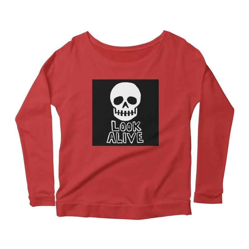 Look Alive Women's Scoop Neck Longsleeve T-Shirt by Renee Leigh Stephenson Artist Shop