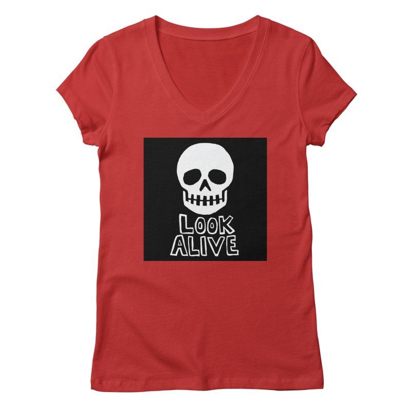 Look Alive Women's Regular V-Neck by Renee Leigh Stephenson Artist Shop