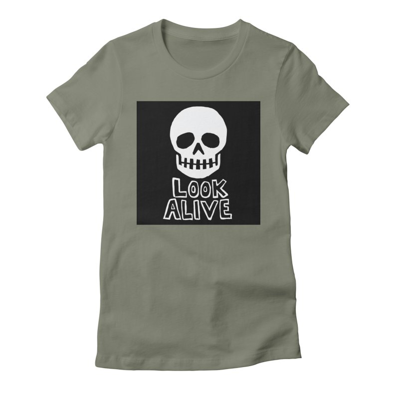 Look Alive Women's Fitted T-Shirt by Renee Leigh Stephenson Artist Shop