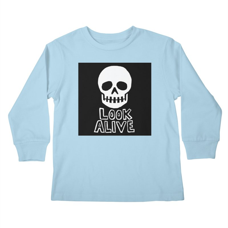 Look Alive Kids Longsleeve T-Shirt by Renee Leigh Stephenson Artist Shop