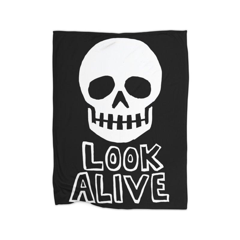 Look Alive Home Fleece Blanket Blanket by Renee Leigh Stephenson Artist Shop