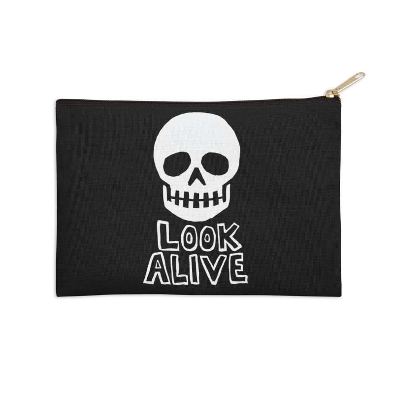 Look Alive Accessories Zip Pouch by Renee Leigh Stephenson Artist Shop