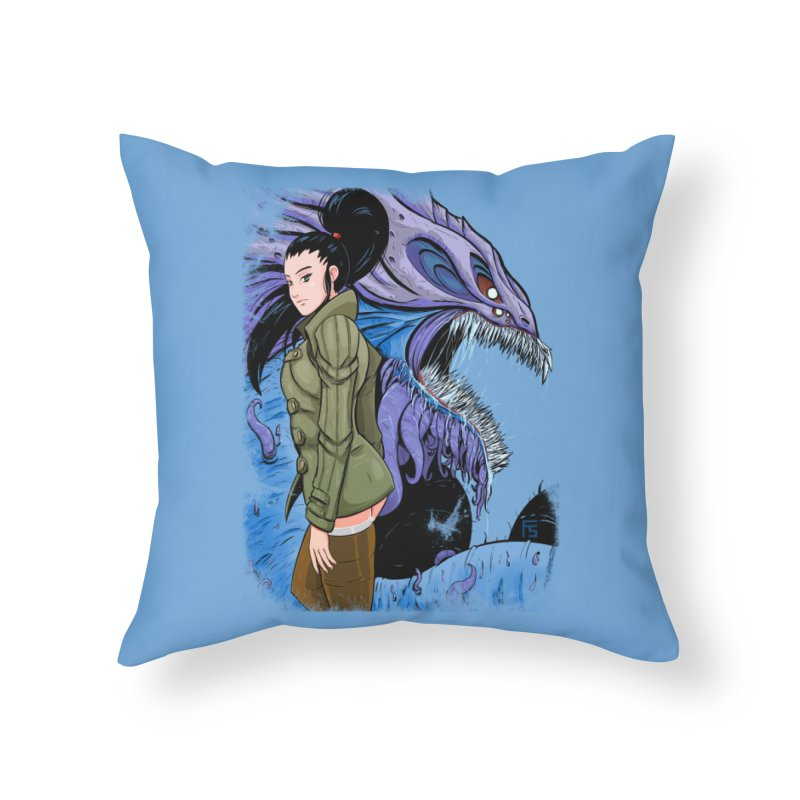 The Demon In Me Home Throw Pillow by Requiem's Thread Shop