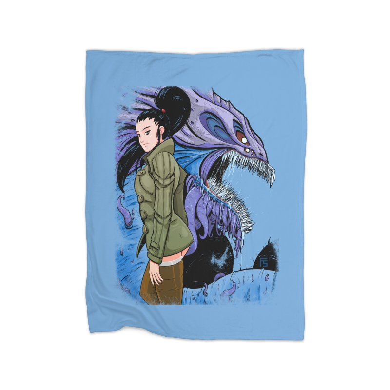 The Demon In Me Home Blanket by Requiem's Thread Shop