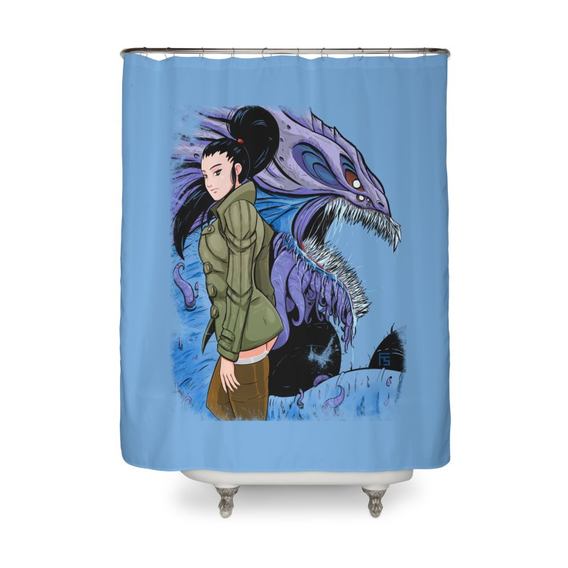 The Demon In Me Home Shower Curtain by Requiem's Thread Shop