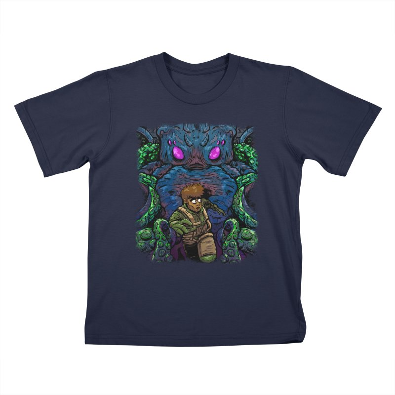 Escaping Cthulhu Kids T-Shirt by Requiem's Thread Shop