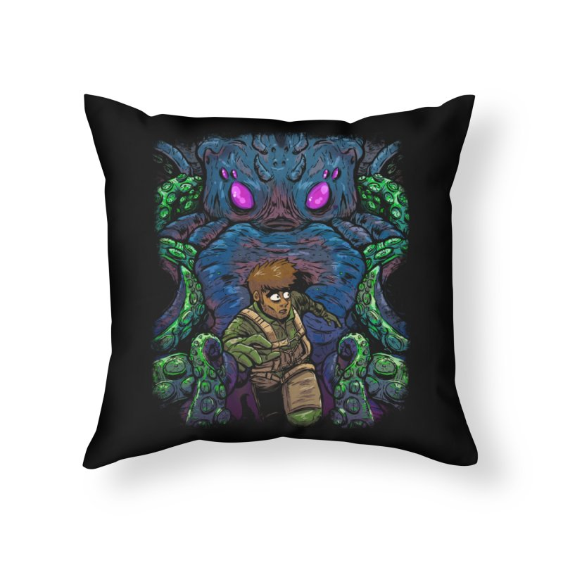 Escaping Cthulhu Home Throw Pillow by Requiem's Thread Shop