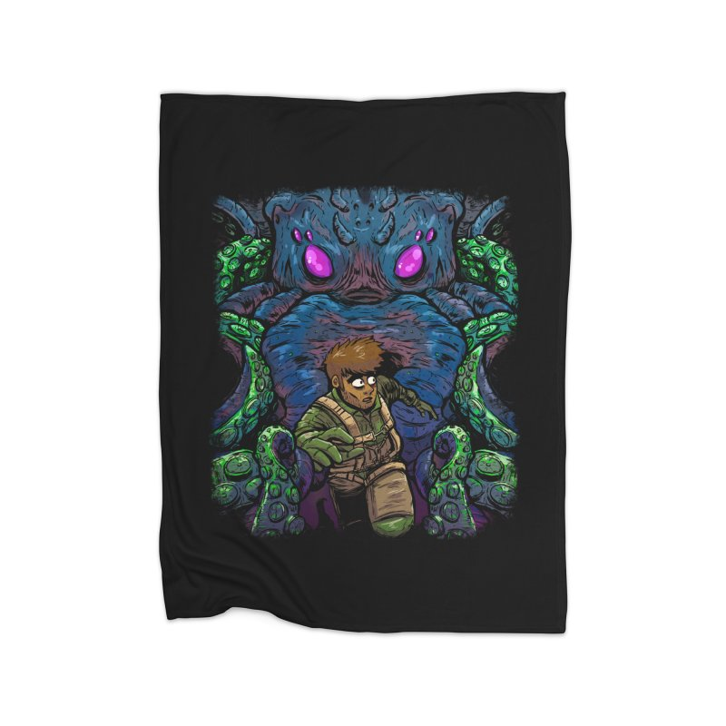 Escaping Cthulhu Home Blanket by Requiem's Thread Shop