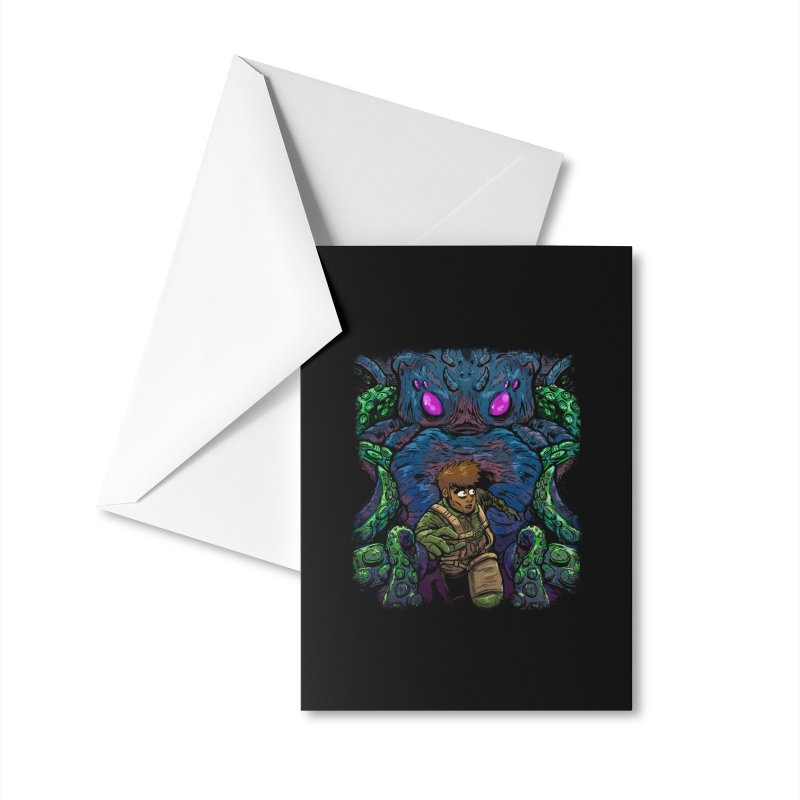 Escaping Cthulhu Accessories Greeting Card by Requiem's Thread Shop