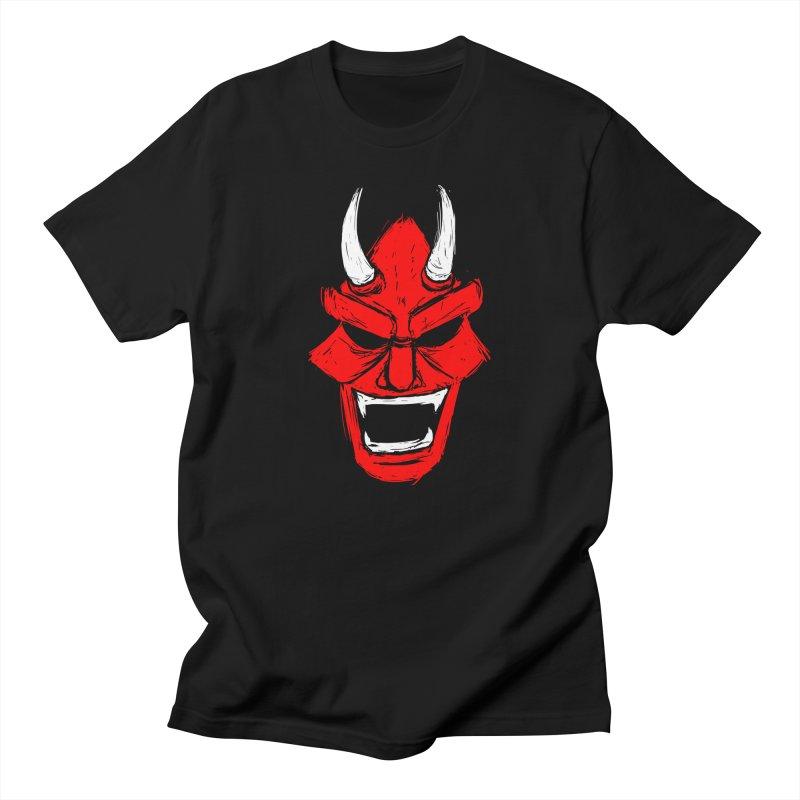Demon Mask Men's Regular T-Shirt by Requiem's Thread Shop
