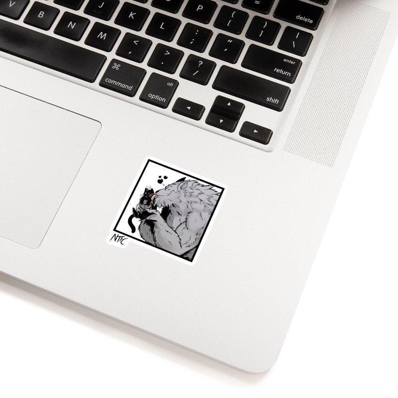 Cat Dad Accessories Sticker by Requiem's Thread Shop