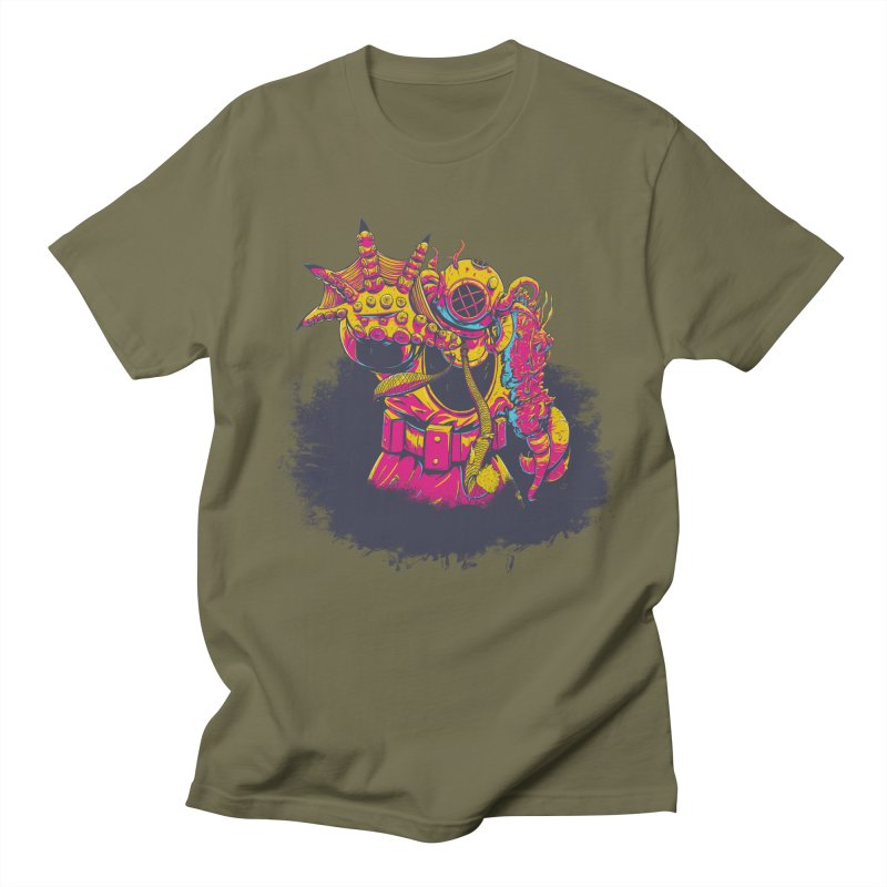 It Came From The Deep Pink Men's Regular T-Shirt by Requiem's Thread Shop