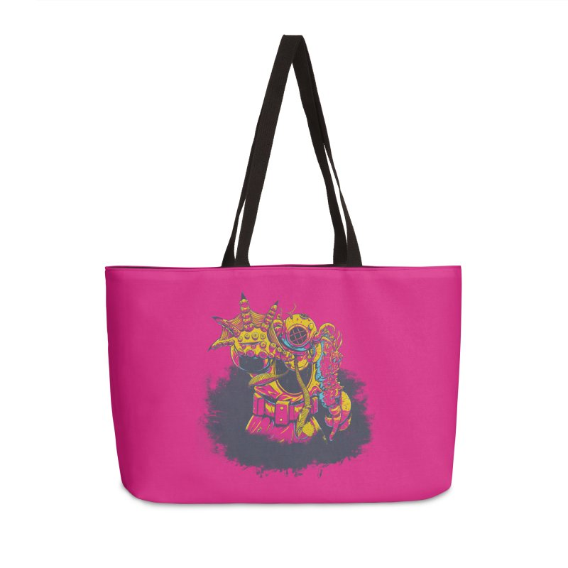 It Came From The Deep Pink Accessories Weekender Bag Bag by Requiem's Thread Shop