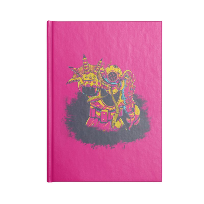 It Came From The Deep Pink Accessories Lined Journal Notebook by Requiem's Thread Shop