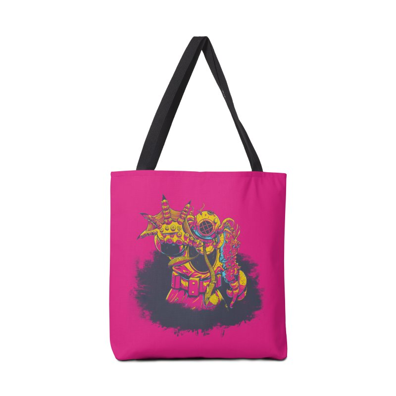 It Came From The Deep Pink Accessories Tote Bag Bag by Requiem's Thread Shop