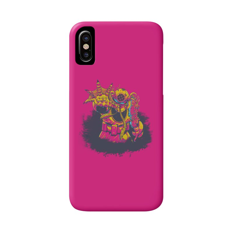 It Came From The Deep Pink Accessories Phone Case by Requiem's Thread Shop