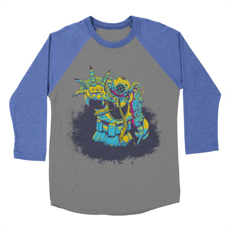 From The Deep Blue Women's Baseball Triblend T-Shirt by Requiem's Thread Shop
