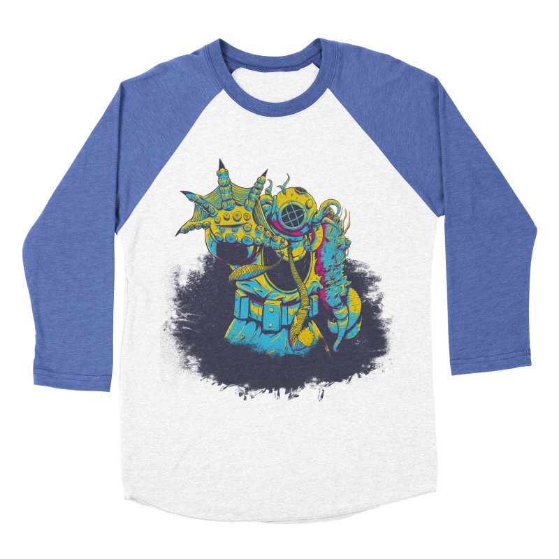 From The Deep Blue Men's Baseball Triblend T-Shirt by Requiem's Thread Shop