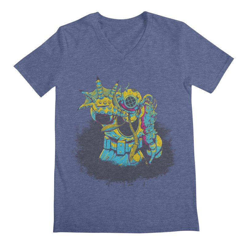 From The Deep Blue Men's V-Neck by Requiem's Thread Shop