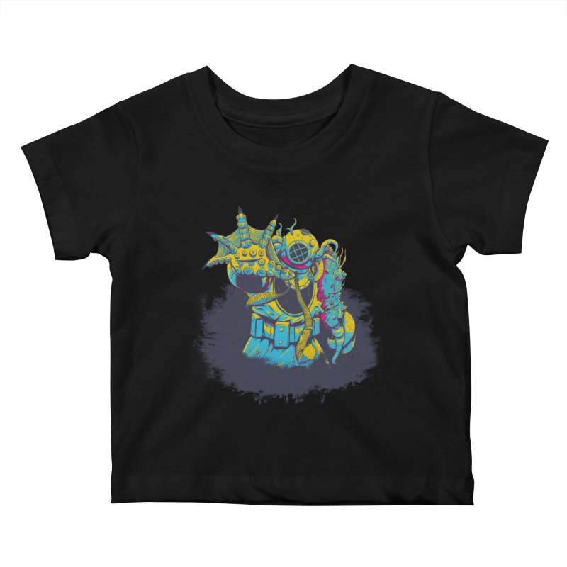 From The Deep Blue Kids Baby T-Shirt by Requiem's Thread Shop