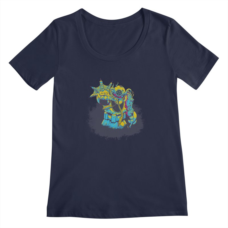From The Deep Blue Women's Scoopneck by Requiem's Thread Shop