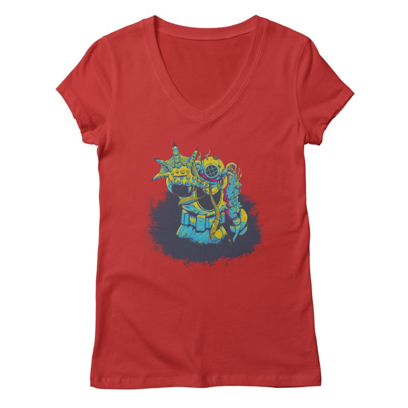 From The Deep Blue Women's V-Neck by Requiem's Thread Shop
