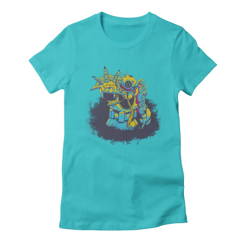 From The Deep Blue Women's Fitted T-Shirt by Requiem's Thread Shop
