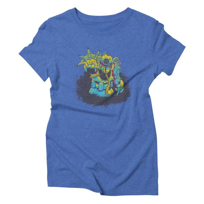 From The Deep Blue Women's Triblend T-Shirt by Requiem's Thread Shop