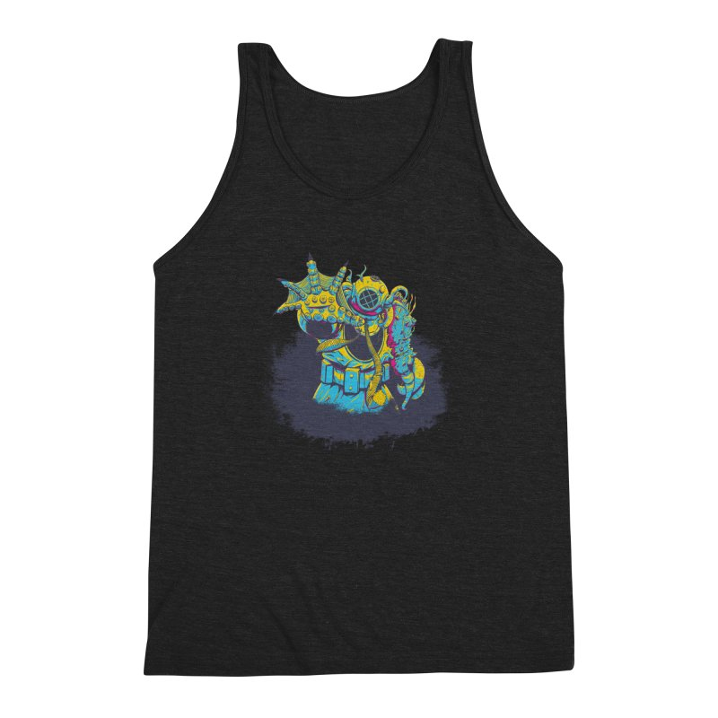 From The Deep Blue Men's Triblend Tank by Requiem's Thread Shop