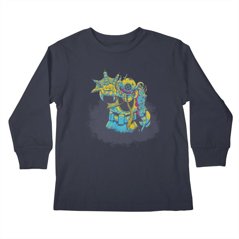 From The Deep Blue Kids Longsleeve T-Shirt by Requiem's Thread Shop