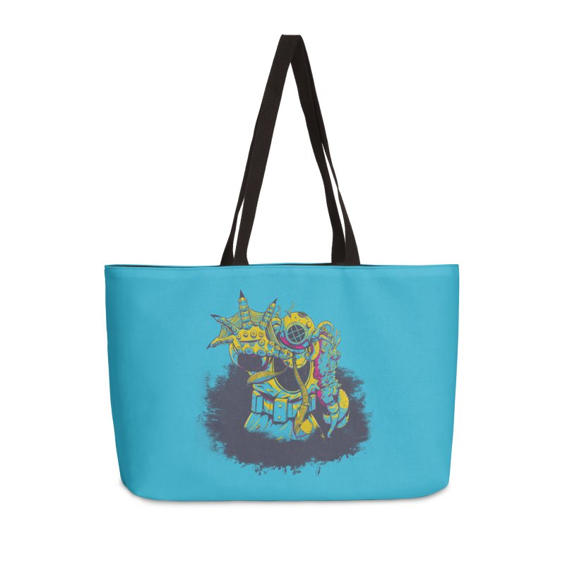 From The Deep Blue Accessories Weekender Bag Bag by Requiem's Thread Shop