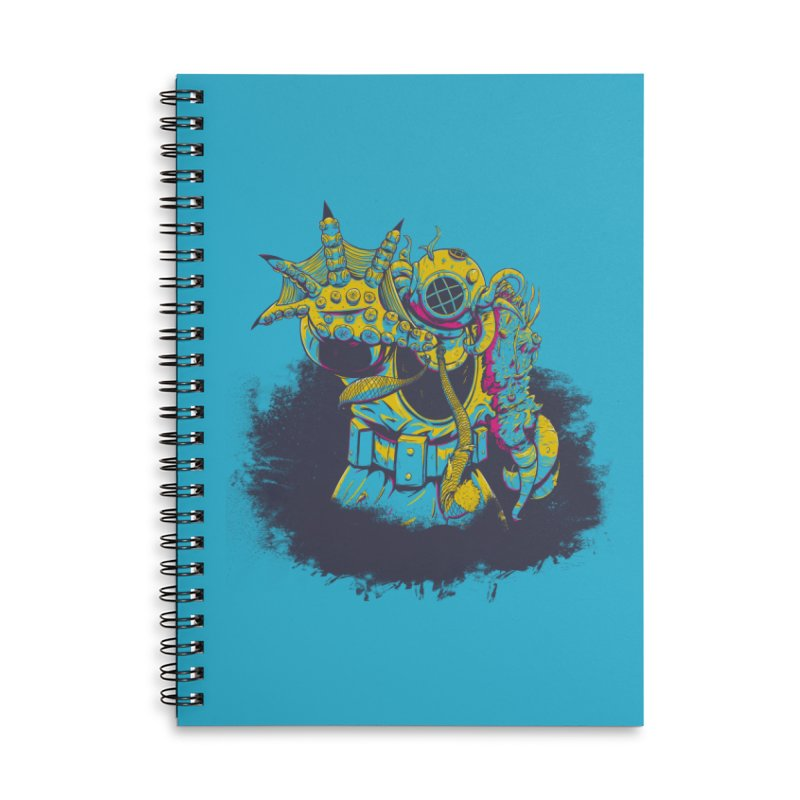 From The Deep Blue Accessories Lined Spiral Notebook by Requiem's Thread Shop