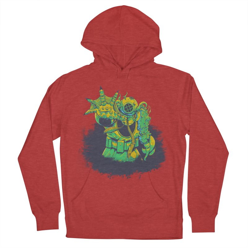 Green in the Gills  Men's French Terry Pullover Hoody by Requiem's Thread Shop