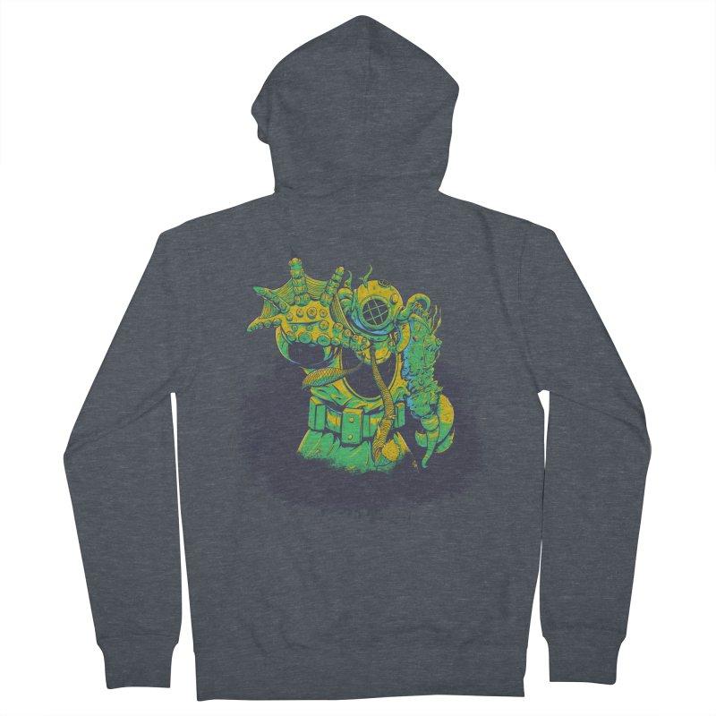 Green in the Gills  Men's French Terry Zip-Up Hoody by Requiem's Thread Shop