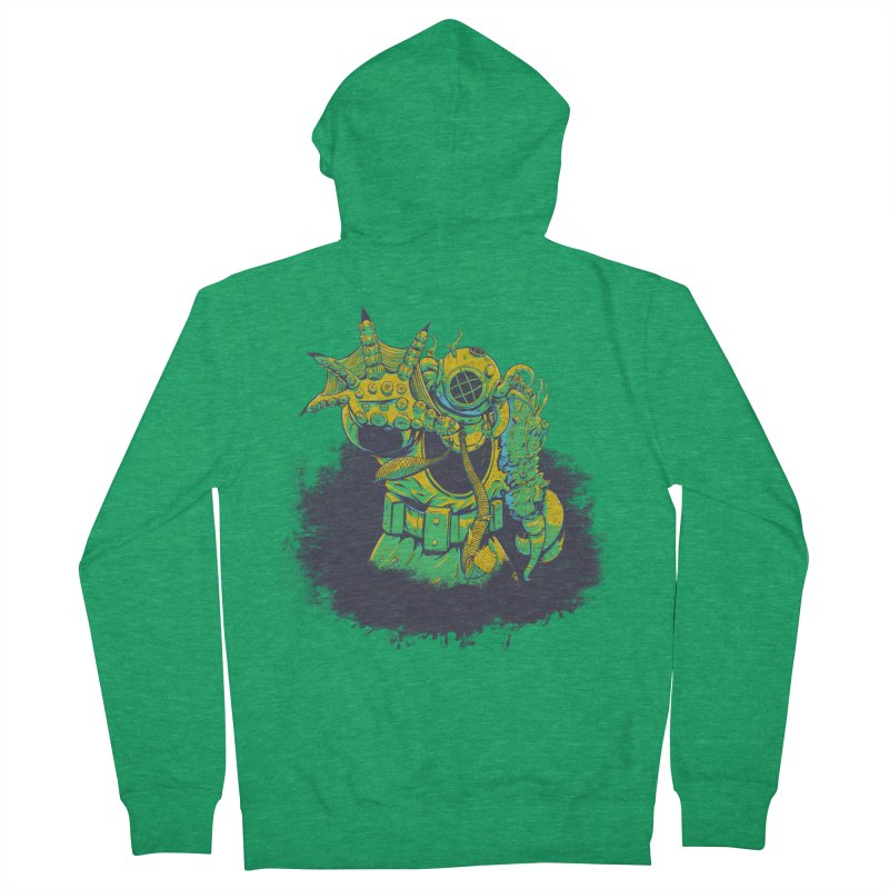 Green in the Gills  Men's Zip-Up Hoody by Requiem's Thread Shop
