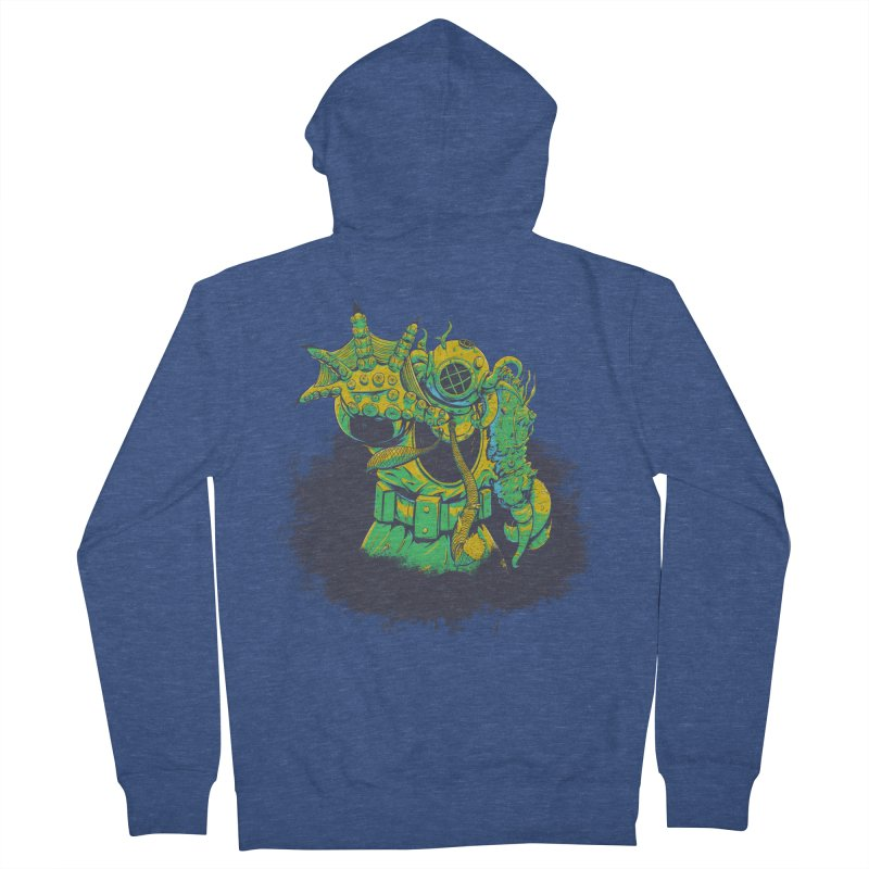 Green in the Gills  Men's French Terry Zip-Up Hoody by Requiem's Thread Shop