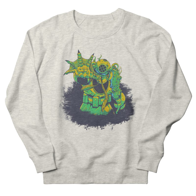 Green in the Gills  Women's French Terry Sweatshirt by Requiem's Thread Shop